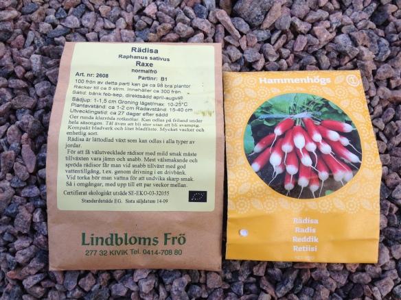 Rädior är också ett måste, snbbt och enkelt att odla